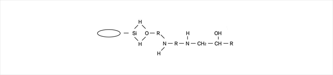 원크리트 활성수소가 Alkyl기 (R)과 치환하여 입체구조가 형성 (반응완료 후 구조) 이미지1